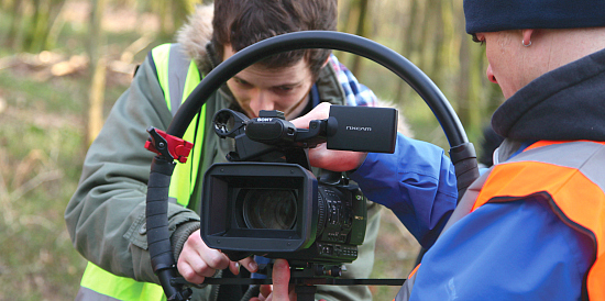 Filming for The River by students and staff at the University of Chichester