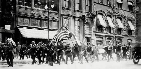 German reservists on Broadway - 08-04-1914