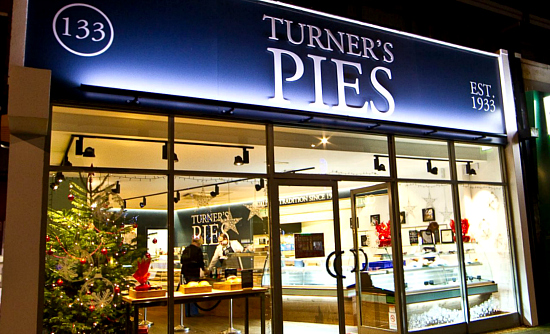 Turner's Pie shop front