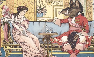 Beauty and the Beast by illustrator Walter Crane