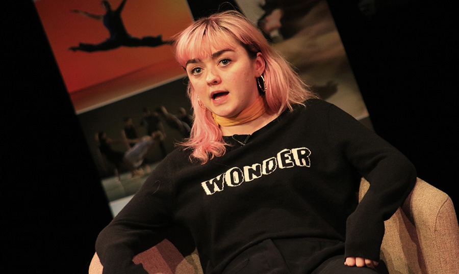 Maisie Williams visited the University of Chichester in January