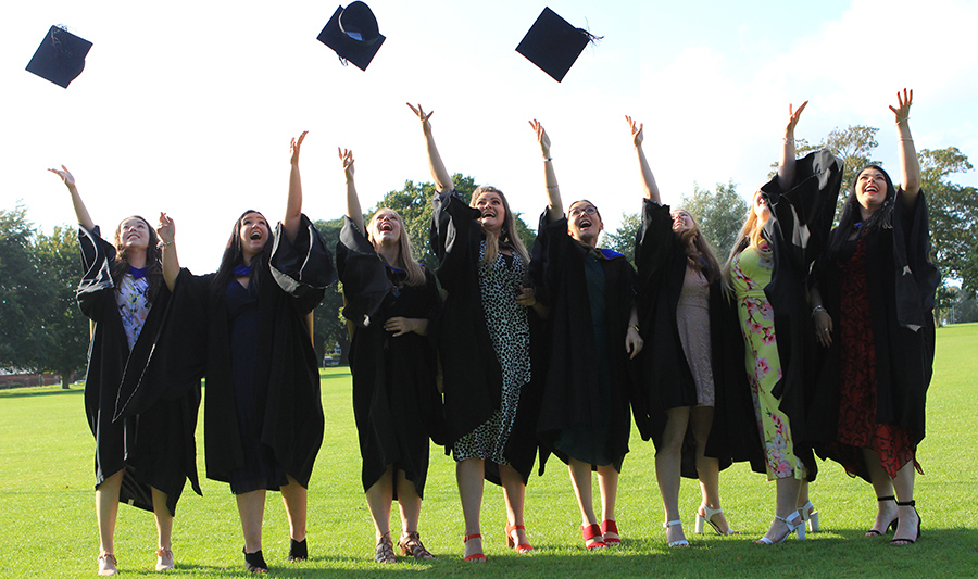 Celebrations at the University as students collect their degrees at graduation