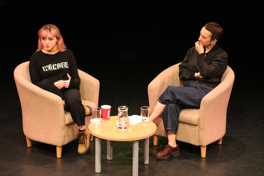 Maisie Williams speaks at University of Chichester