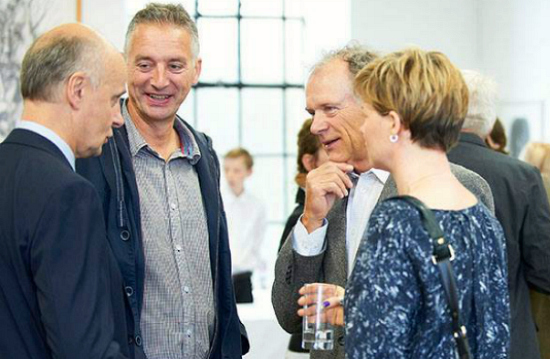 Dave Swann at the Bridport Prize - second from left