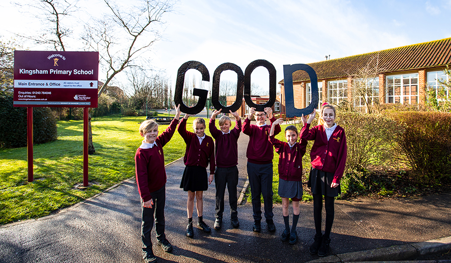 Good feeling among Kingsham pupils as Ofsted praises school in recent inspection