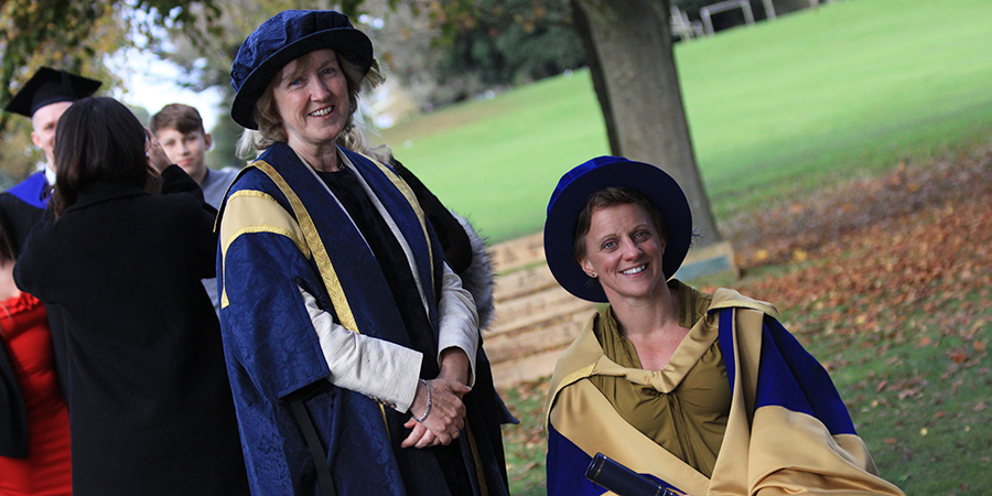 Paracanoe champion Emma Wiggs MBE was awarded an Honorary Doctorate of Education