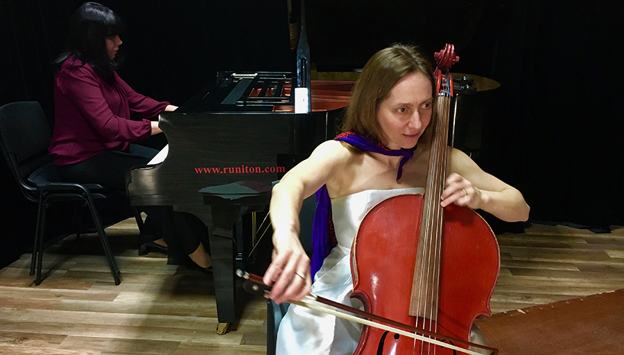 University cellist Laura Ritchie, a Professor of Learning and Teaching