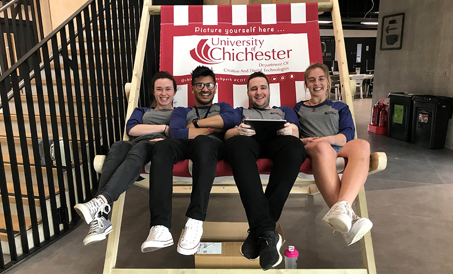 University of Chichester's outreach team (taken before social distancing rules implemented)