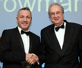 Krowmark MD Mark Ponsford with University of Chichester Professor Clive Behagg