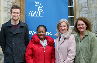 Left to right - Dr Matthews, Game Mothibi, Dr Pike, and Dr Anita White