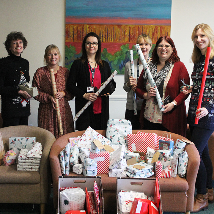 University staff donated around 100 presents to the neonatal unit at St RIchard's hospital